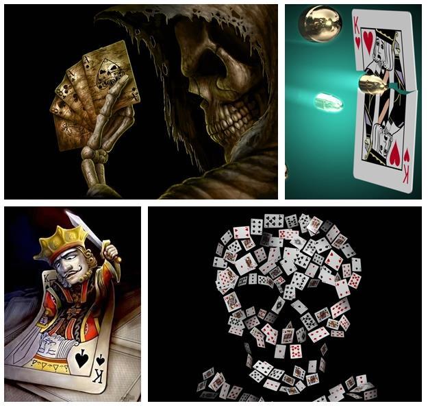 魔术图片—扑克手法_魔术资源